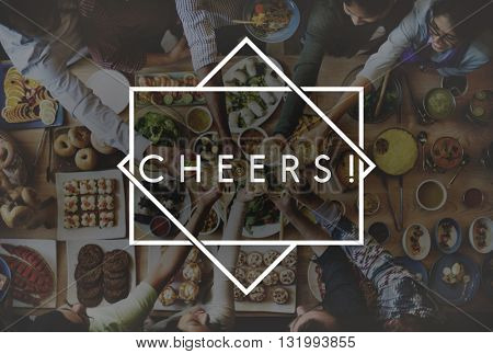 Cheers Toast Celebration Event Happiness Anniversary Concept