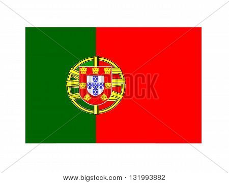 Original portugal flag with red and green colours - vector image.