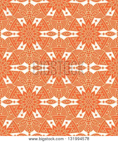 Seamless (repeatable, you see 4 tiles) highly detailed elegant pattern, print, swatch, wallpaper, or background