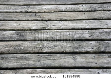 A Weathered old wooden boards background. With nails.