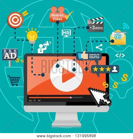 Video Marketing Business Advertising Promotion Concept Infographic