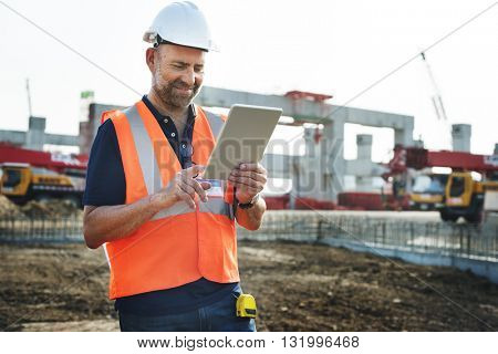Construction Architecture Hardhat Helmet Structure Concept