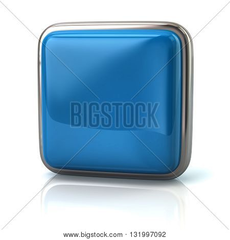 3d illustration of blue web button isolated on white background