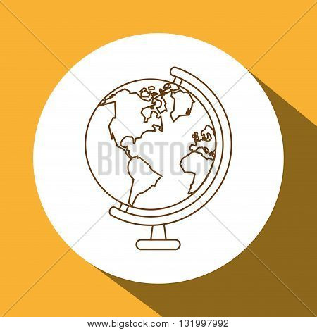 Planet concept with globe icon design, vector illustration 10 eps graphic