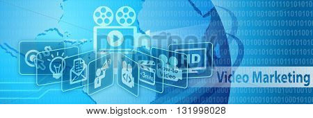 Video Marketing Advertising Analytics Business Concept Banner