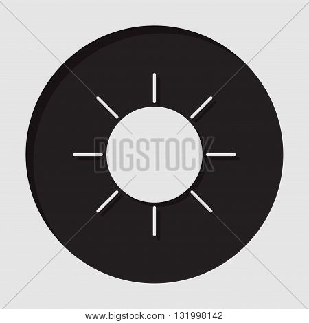 information icon - dark circle with white sun and shadow