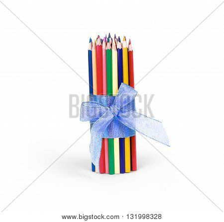 Color pencils isolated on white background isolated