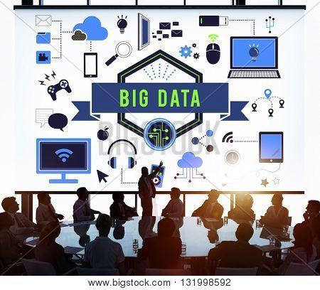 Big Data Computer Network Technology Concept