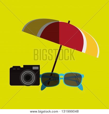 Vacation concept with icon design, vector illustration 10 eps graphic