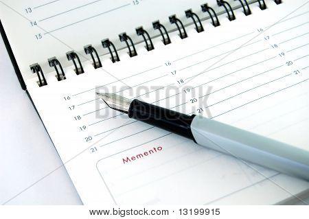 Pen on Empty Organizer