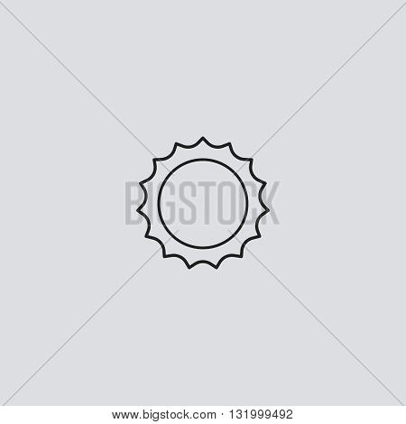 Sun icon vector. Sun logo. Sun sign.  Sun icon web - stock vector.