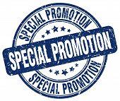 Special Promotion Blue Grunge Round Vintage Rubber Stamp.special Promotion Stamp.special Promotion R poster
