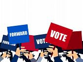 Election Campaign, Election Vote, Election Poster, Holding Posters, Election Banner, Supporting Team poster