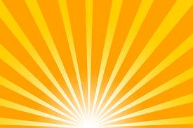 picture of sun rays  - really hot summer sun  - JPG