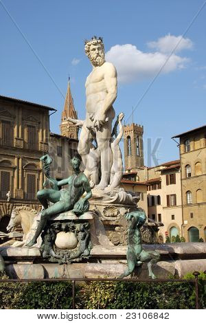 The Neptune Fountain , Florence