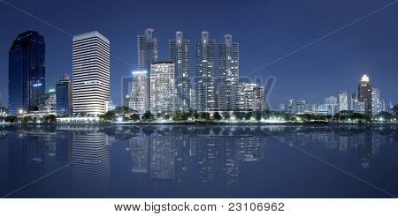 Panorama city at night, Bangkok