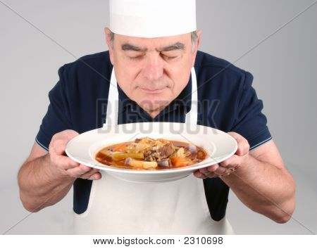 Chef With Beef Stew