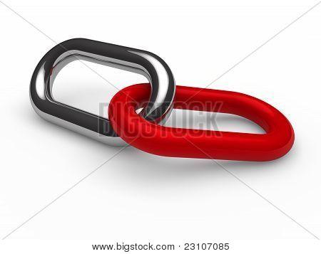 3D Red Chrome Chain