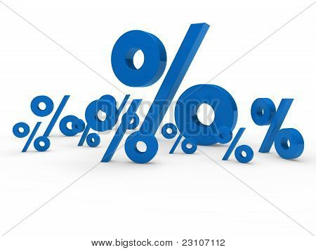 3D Blue Sale Percent
