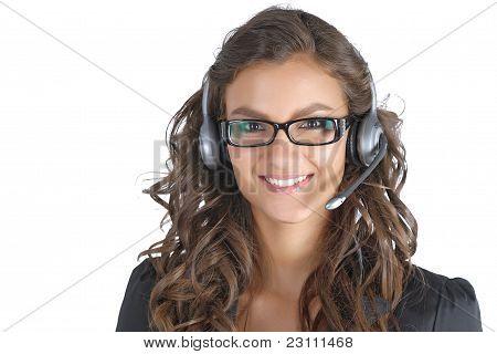 Support technician brunette