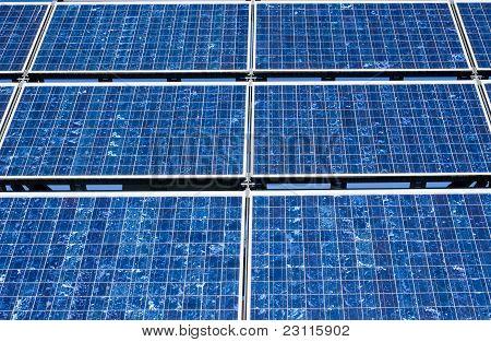 Solar panel close-up