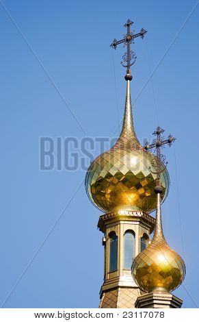 Domes Of An Orthodox Temple