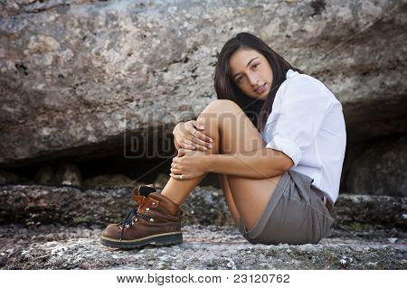 Young Girl Dressed Adventurer