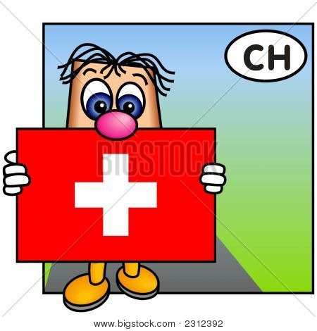 'Paley' Showing The Flag Of Switzerland