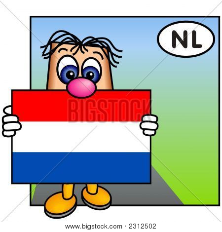 'Paley' Showing The Flag Of The Netherlands