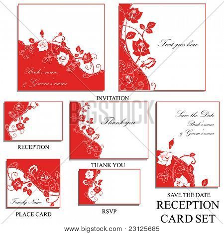 reception card set