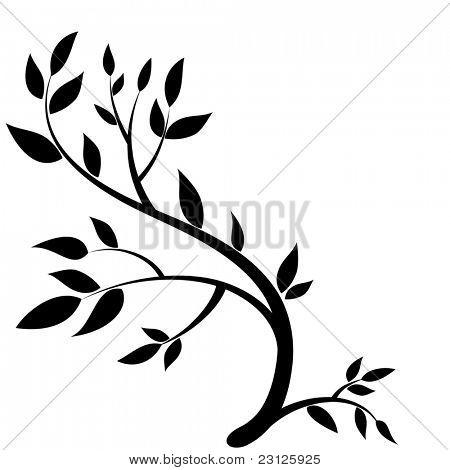 Gestaltungselement - Grafik Zeichnung einen Brunch mit Blättern