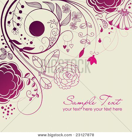 stilvolle floral background