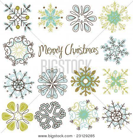 Cute Retro Snowflakes