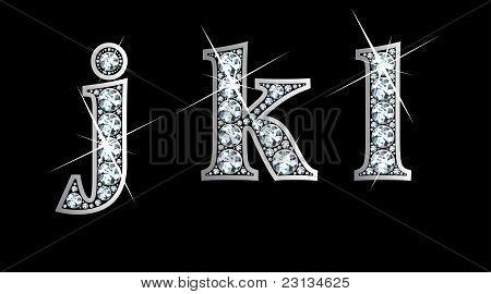 Diamond j, k, and l In Lower Case