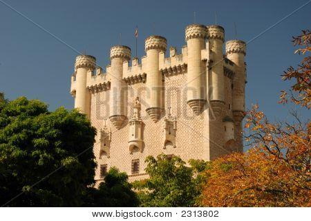 Tower Of Alcazar In Segovia