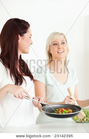 Women Cooking Dinner