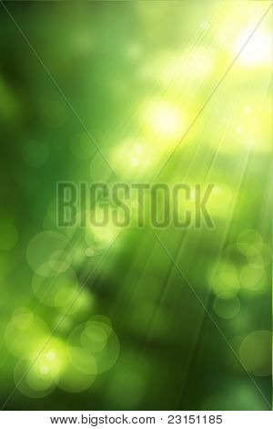Art Abstract Nature Background Spring Greens