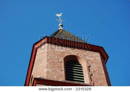Church Steeple In Mittlebrunnen, Germany