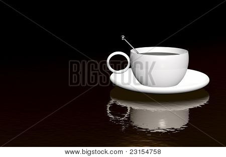 ultra modern conceptual coffee background illustration with plenty of room for text
