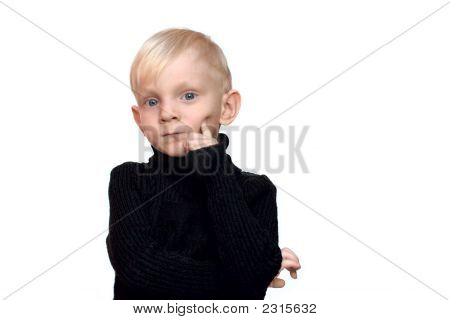 Boy With Serious Look