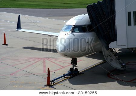 Airplane Ready for Passenger Loading