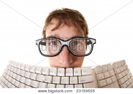 Man Behind Keyboard
