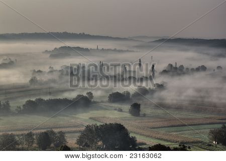 Morning Fog In The Valley - Sleepy Hollow