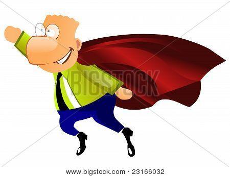Funny super businessman