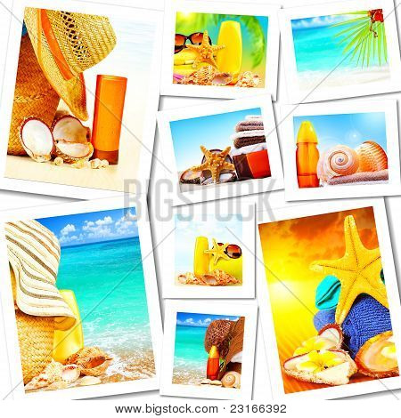 Summer Fun Concept Collage