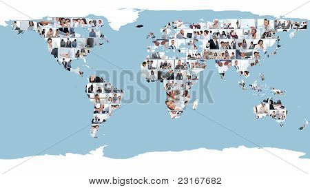 World Map Made Of Pictures
