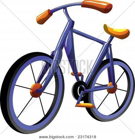 Cartoon bike