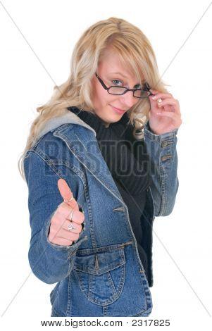 Teenager Student Okay Gesture