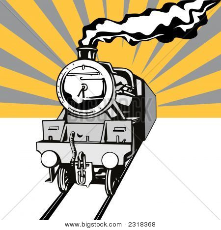Train_Vintage_Loco_Front.Eps