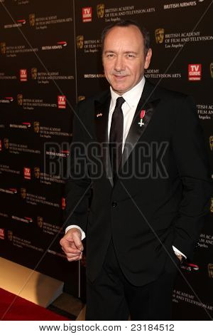 LOS ANGELES - NOV 4: Kevin Spacey at the 18th annual BAFTA Los Angeles Britannia Awards held at the Hyatt Regency Century Plaza Hotel on November 4, 2010 in Los Angeles, California
